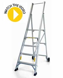 StockMaster Omni Mobile Platform Ladder